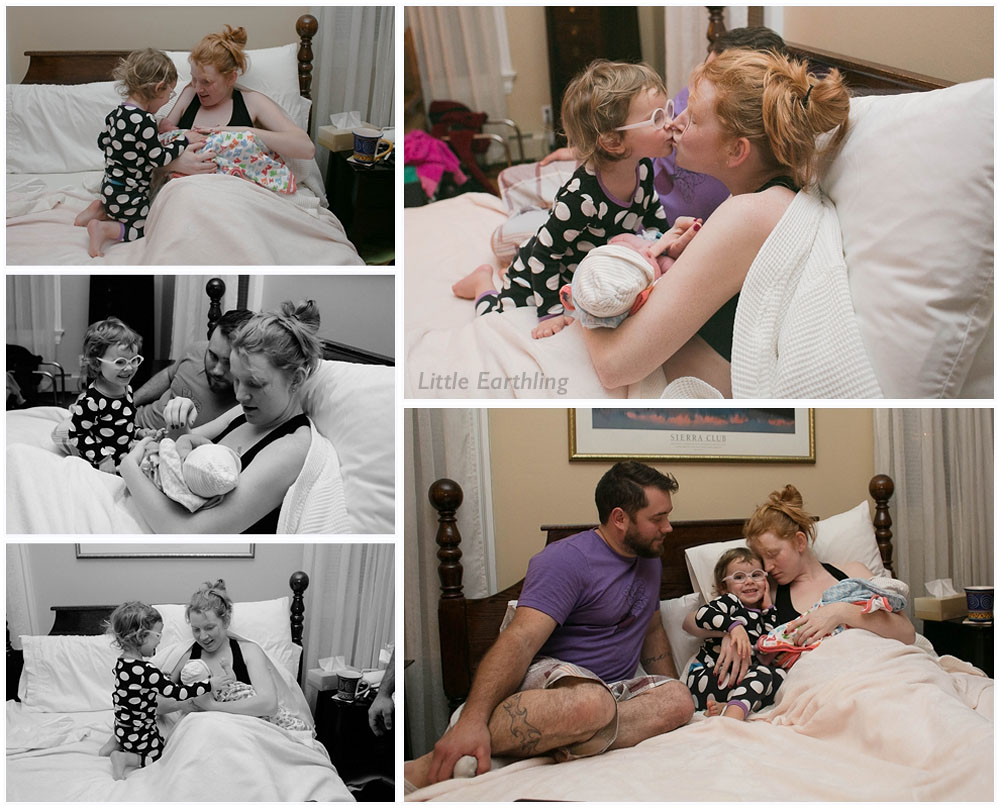 The beautiful natural birth of Aria at the Bellingham Birth Center. Photos by Renee Bergeron of Little Earthling Photography