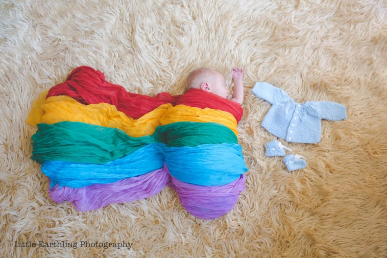 Rainbow baby, Asa, and his big brother Matthew's clothes.