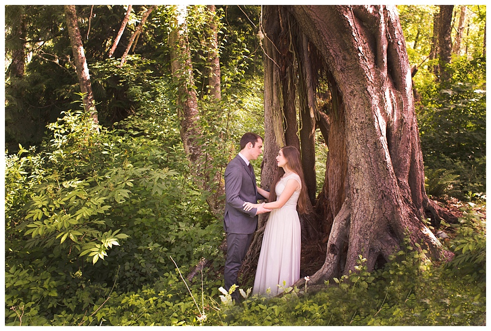 Tilly and Jared's beautiful engagement session by Bellingham engagement photographer, Renee Bergeron