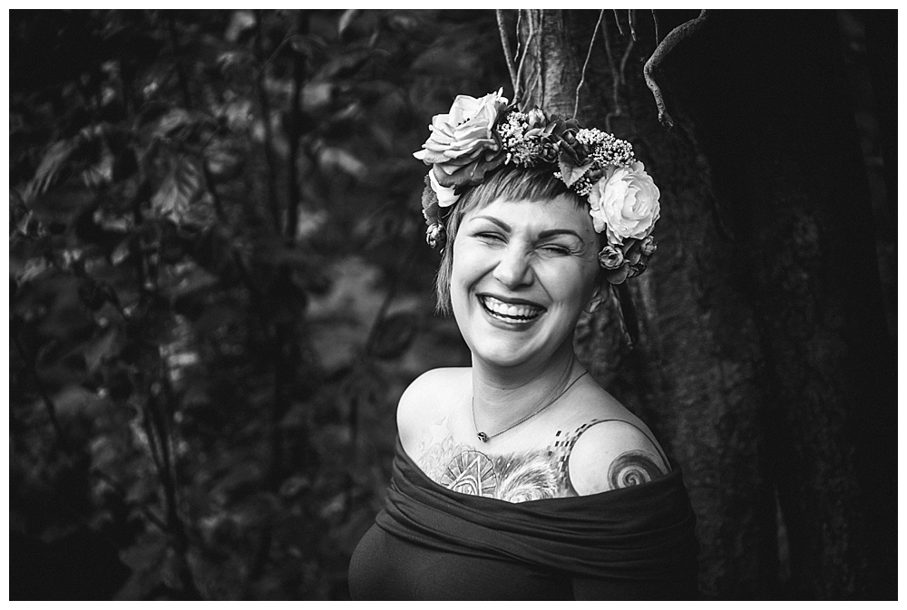 A Maternity Session in the Woods: Bellingham Maternity Photographer