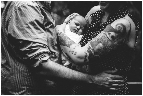 Adorable family with newborn in the Pacific Northwest {Bellingham Baby Photos}
