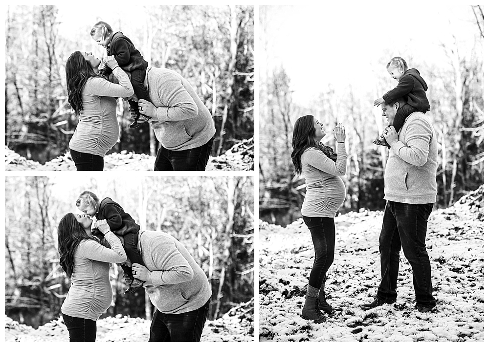 Winter maternity photos by bellingham maternity photographer Renee Bergeron of Little Earthling Photography.