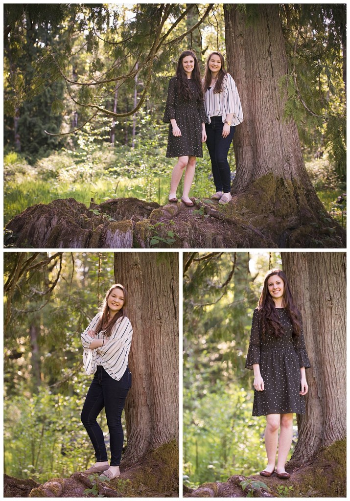 Best friend senior photos in Bellingham, WA. Little Earthling Photography.