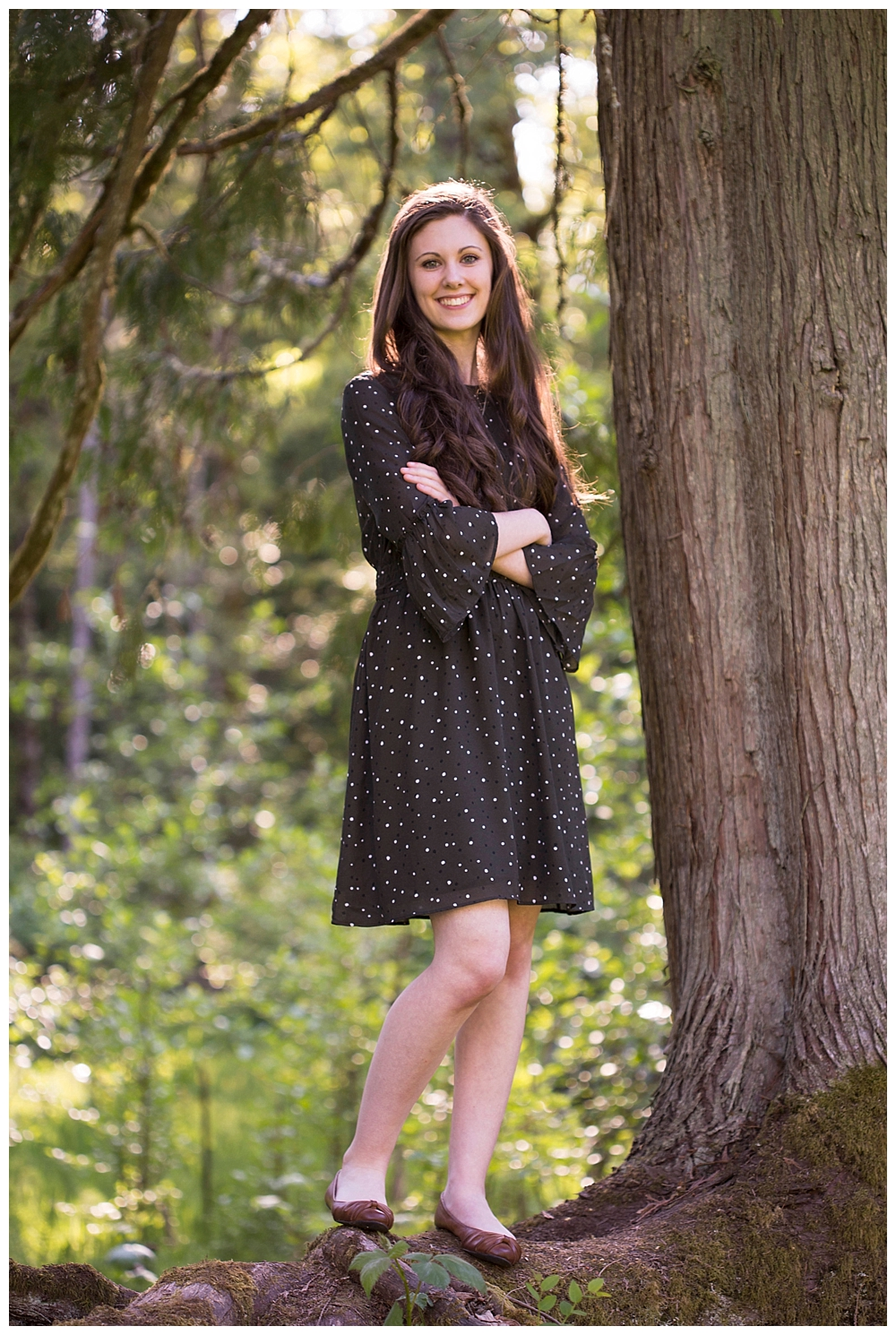 Bellingham Senior Photos in the woods.