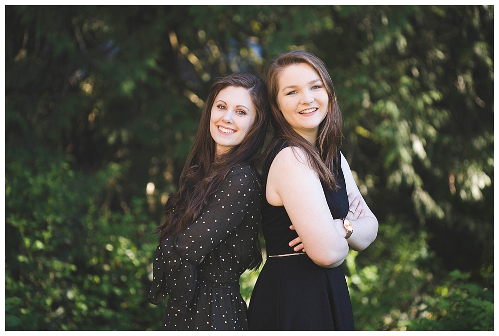 Best friend senior sessions are a fun way to relax in front of the camera.