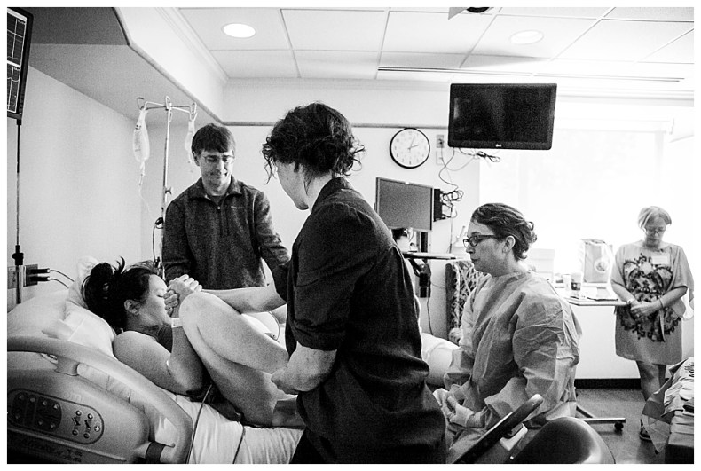 Bellingham birth photographer, Renee Bergeron, captures the beauty of birth at St. Joseph's Hospital.
