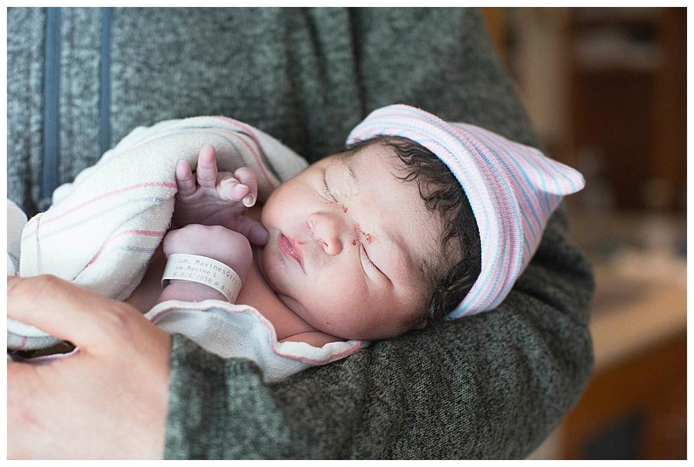 Bellingham birth photographer Renee Bergeron captures Erin's beautiful birth at St. Joseph's Hospital.