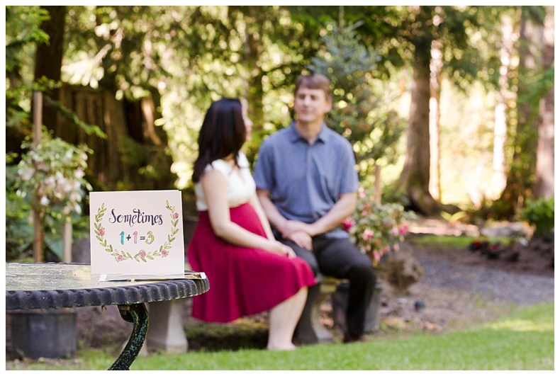 Maternity Session at Glen Echo Garden.