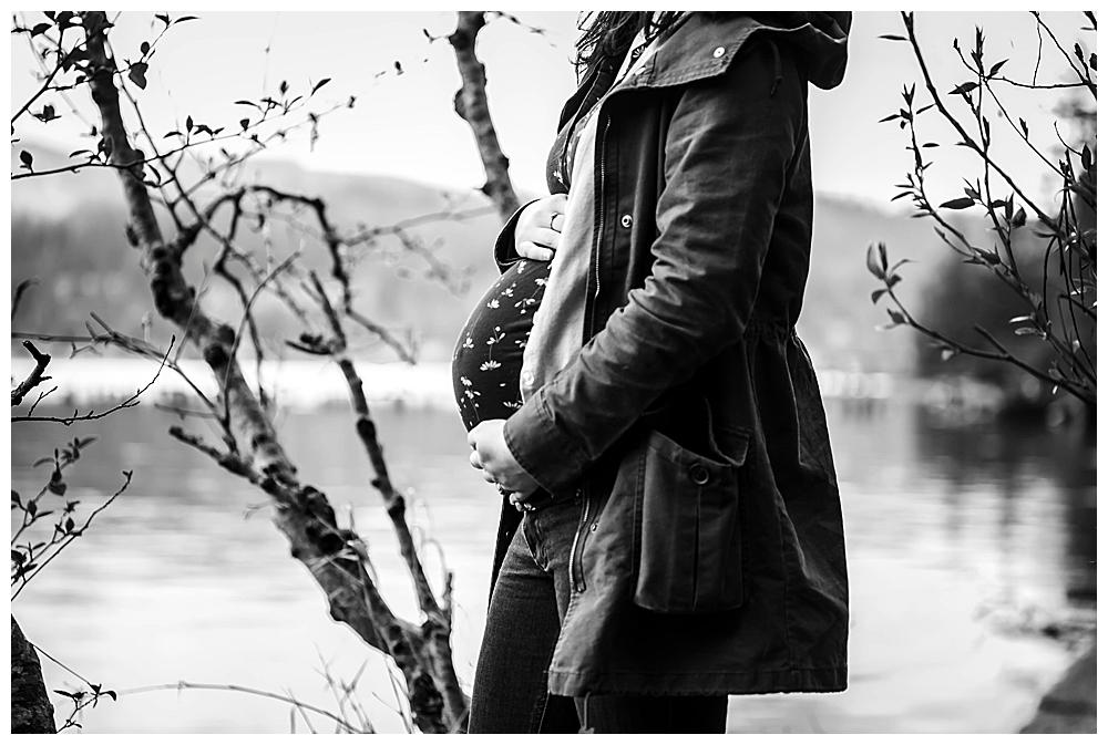 fun North Lake Whatcom maternity photos in Bellingham, WA.