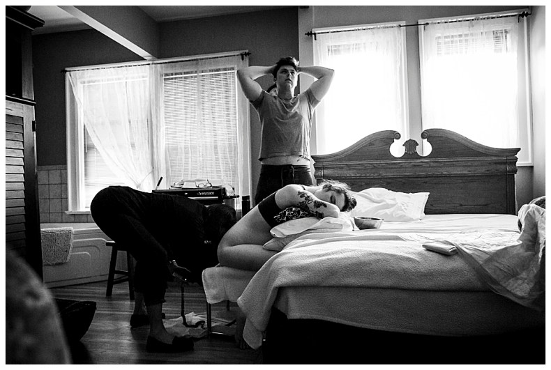 Devon's labor was long...but she was a rock star. Birth photography by Little Earthling Photography.