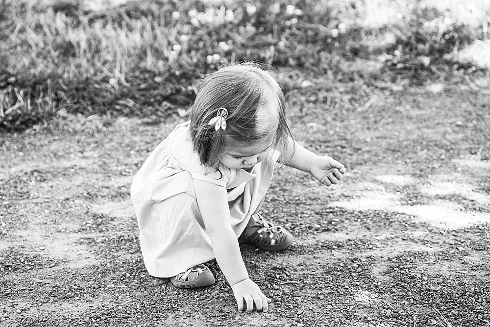 Umi loved collecting rocks during her milestone session.