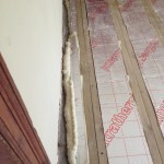 insulation between joist and careful filling at edges