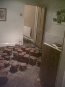 Quarry Tiles up