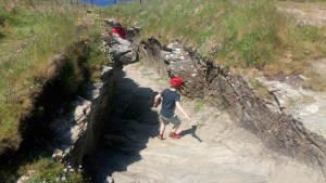 The Tunnel at Tintagel Castle