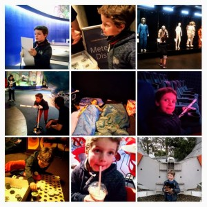 Sleepover at National Space Centre collage