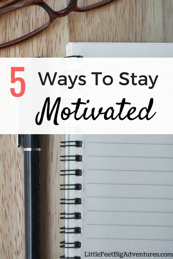 Here are 5 ways to stay motivated that will help you accomplish more during the day. #inspiration #motivation