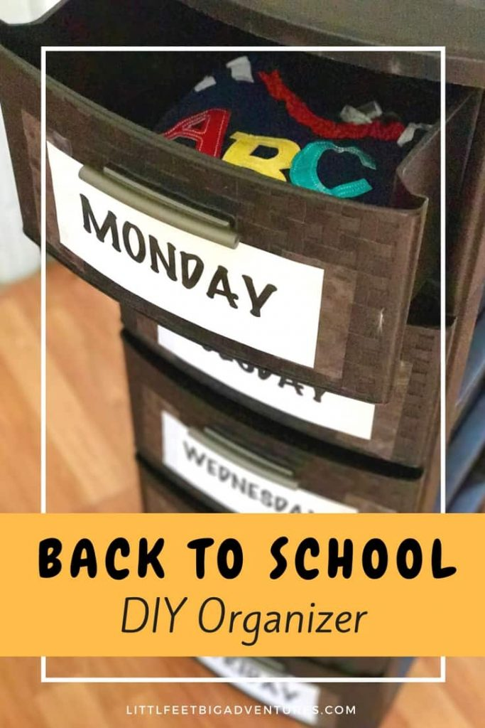 Use these easy DIY steps to create a back to school organizer for your clothes!