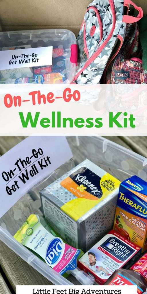 You never know when you might get sick. Learn how to create your own on-to-go wellness kit to take on the road.