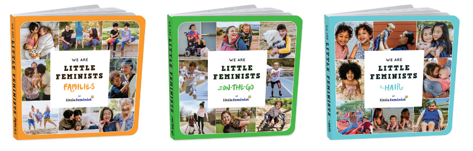 We Are Little Feminists board book covers