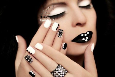 los-mejores-nail-arts-en-blanco-y-negro