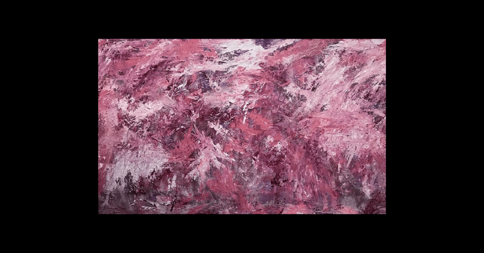 swirling shades of pink horizontal view