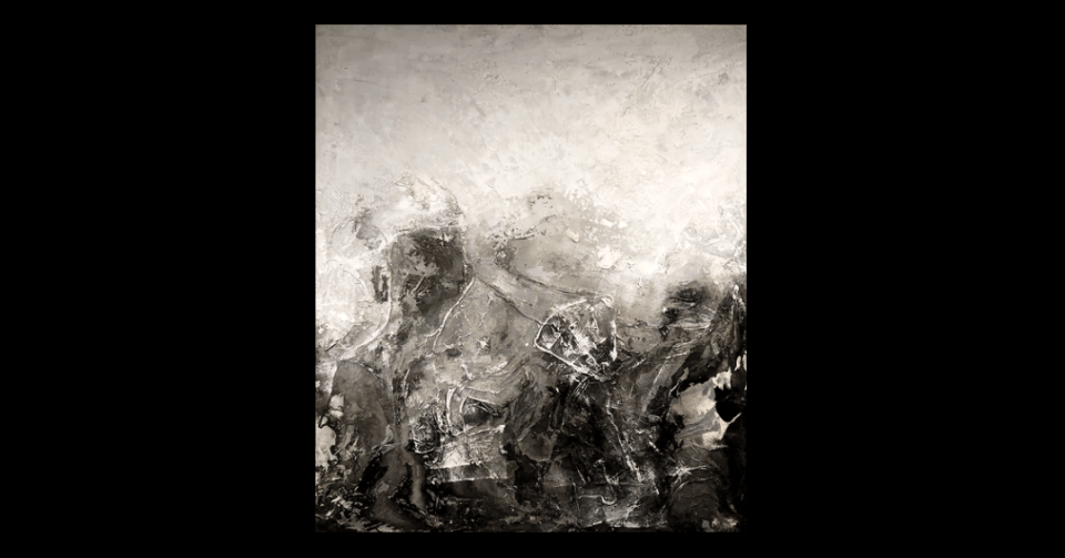 Abstract black and grey painting