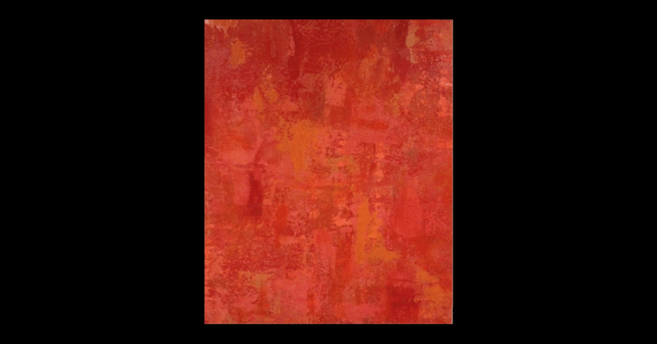 """""""Woman in Red"""" by Carolyn Moore vertical view"""