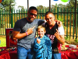 Camerons 10th Birthday Party With Sean Robinson Full and King Leo Gloss at Loolilocks Koi Farms.
