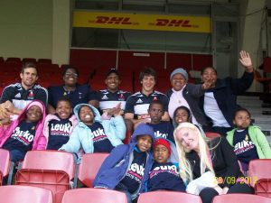 Little Fighters with Stormers Rugby Team