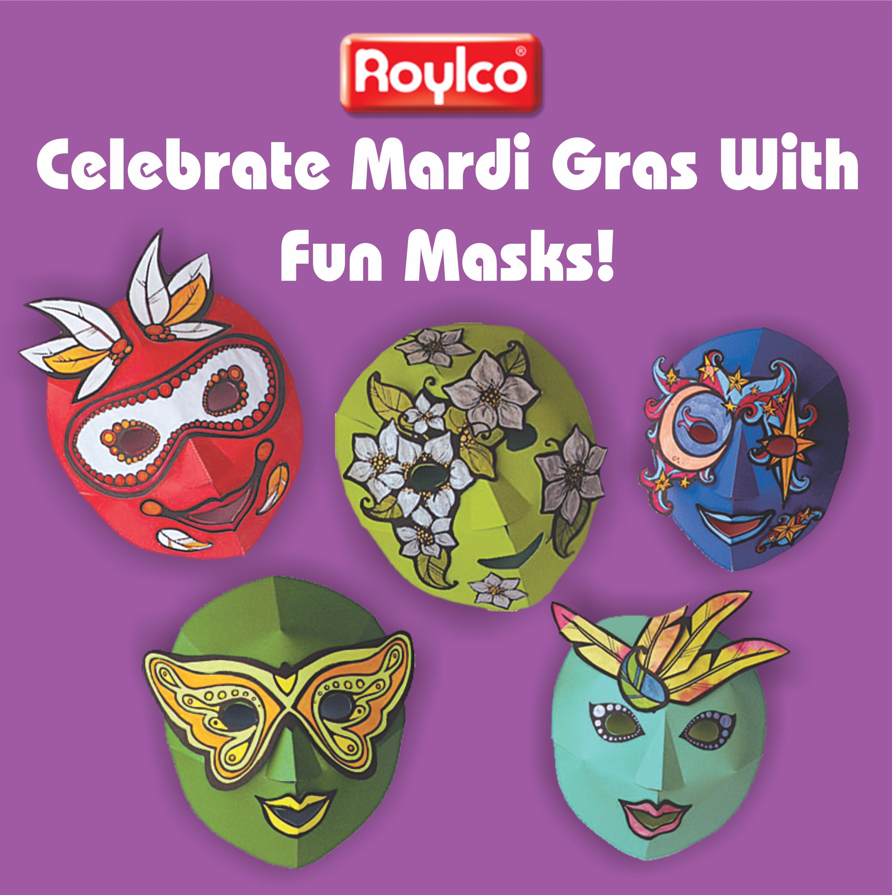 Celebrate Mardi Gras With Gorgeous Color Diffusing Masks