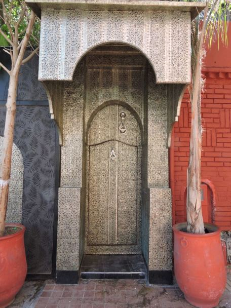 Door to a private residence, Nouvelle Ville of Marrakech