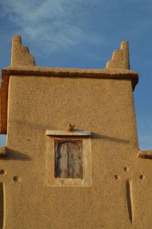 Wood-shuttered window, Morocco