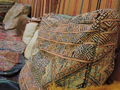 Big patterned cushion in Morocco.