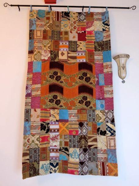 Patchwork Quilt hanging on the wall Hotel Les Matins Bleus, Essaouira