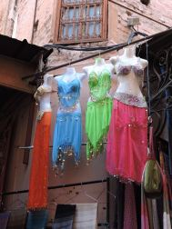 Belly Dancer costumes displayed for sale