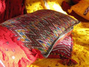 Patio cushions at the Yasmina Hotel, Erg Chebbi
