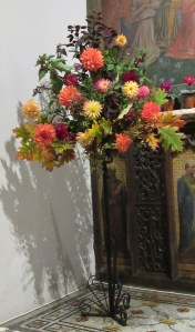 Decorating the Church for Harvest Festival