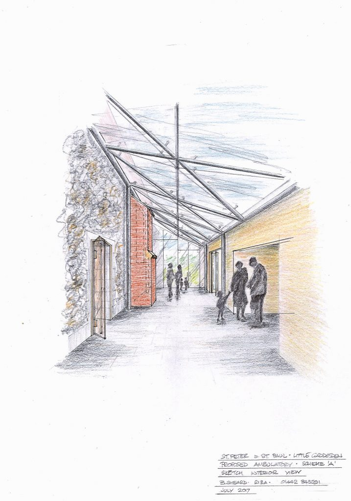 Perspective view of the proposed ambulatory.