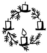 Advent wreath and candles drawing