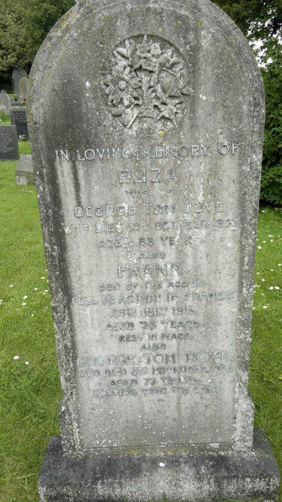 Photo of the Dove Family Grave at St Andrew's, Middleton