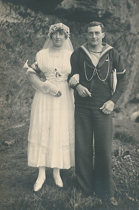Photo of Arthur and Annie on their wedding day