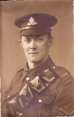 Photo of Herbert Flowers in his RGA Uniform