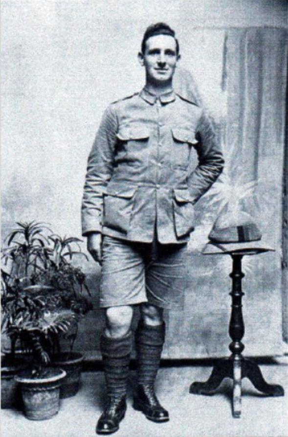 Photo of Hubert Halsey in uniform