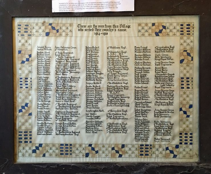 Photo of Revised Roll of Honour found 2020