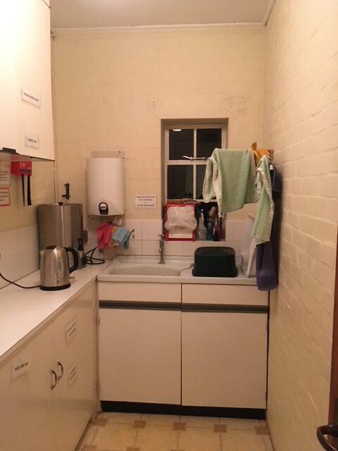Photo of kitchen in old vestry