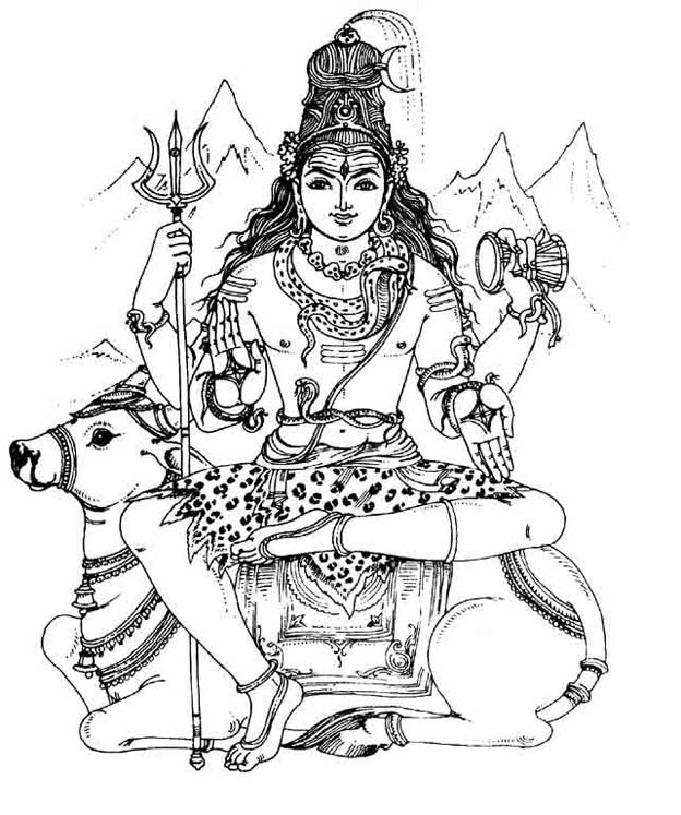 Shri Shiva – an image to color