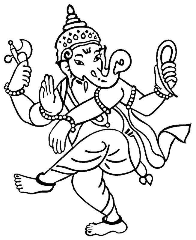 Shri Ganesha-3. An Image to color