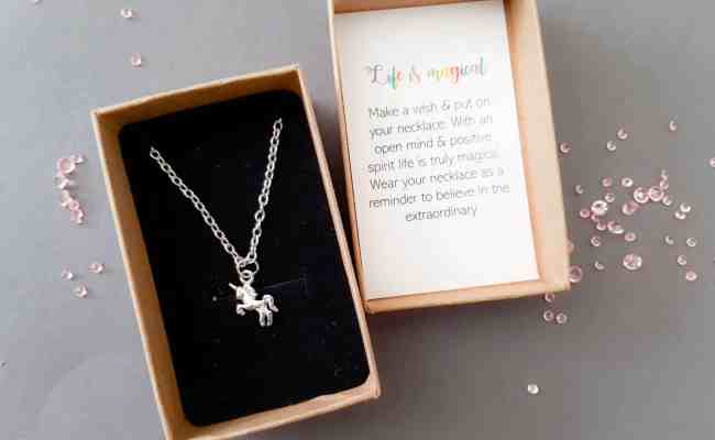 Personalised Unicorn Necklace Gift Unique Personalised