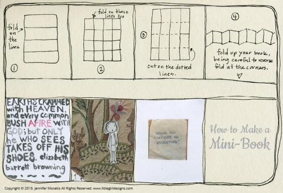 Learn how to make a mini book with one sheet of paper with this simple tutorial. I love how there are so many pages to fill up!