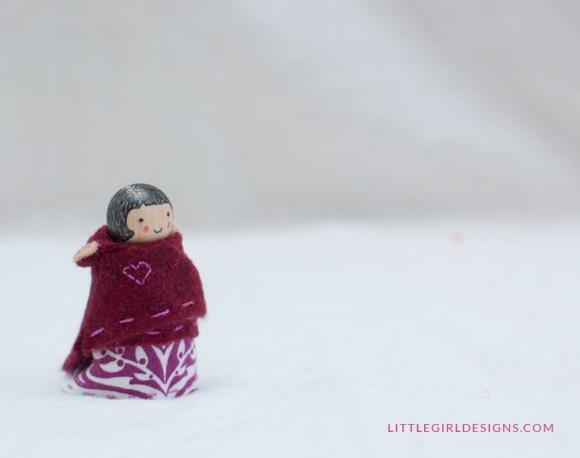 Cape hood down for the princess' outfit @littlegirldesigns.com